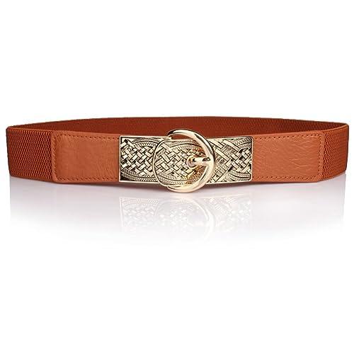 cintura di metallo pin Joker cintura elastica gioielli moda-D Unica
