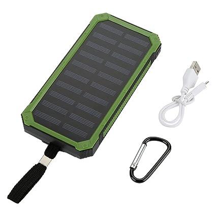 Cargador Móvil Portátil Batería Externa Solar Cargador ...