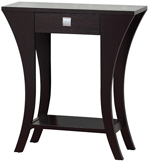 Amazon.com: Cappuccino Finish Console Sofa Entry Table With Drawer: Kitchen  U0026 Dining