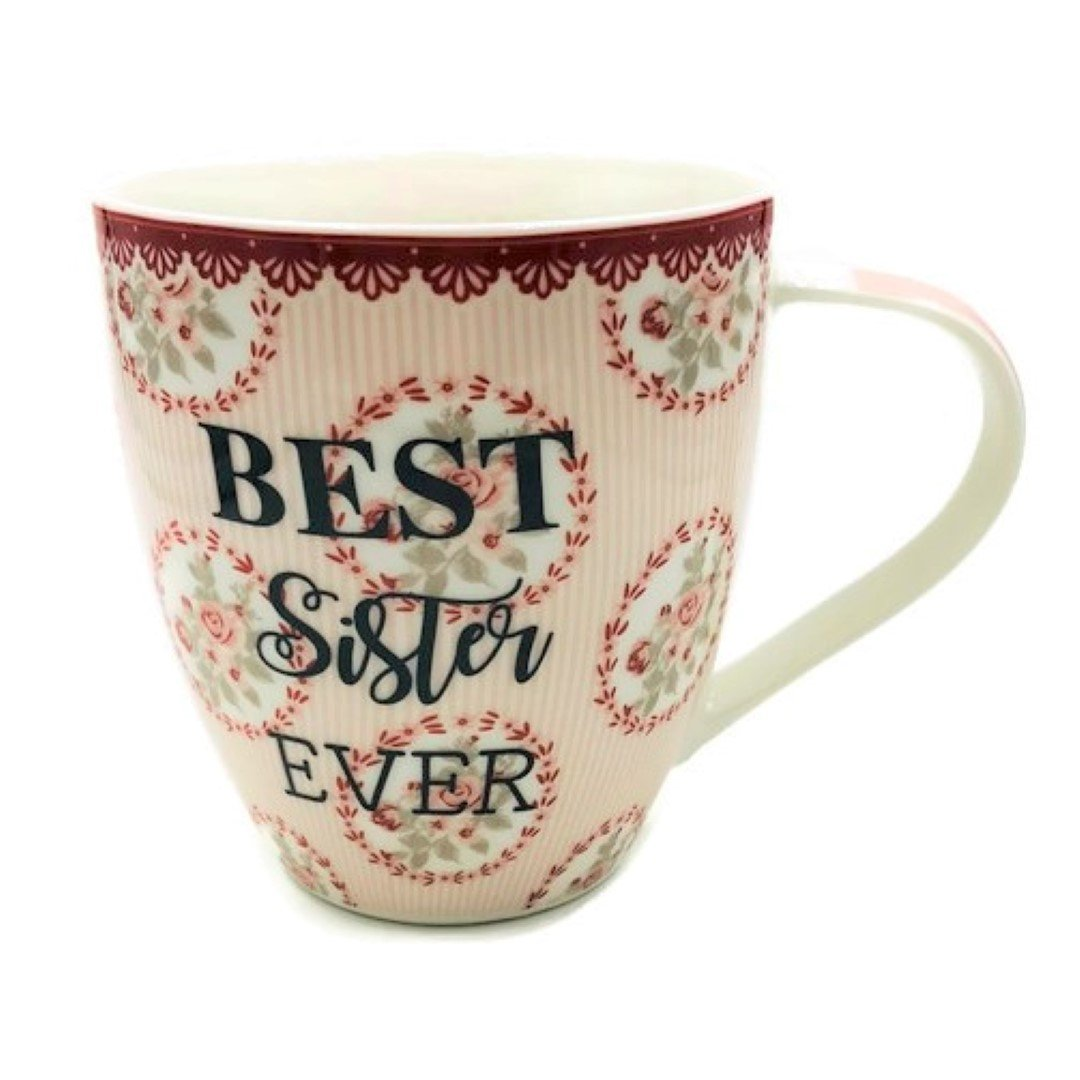 Hampstead Collection Best Sister Ever Mug 18oz with Gift Box Packaging B58-SSISTER