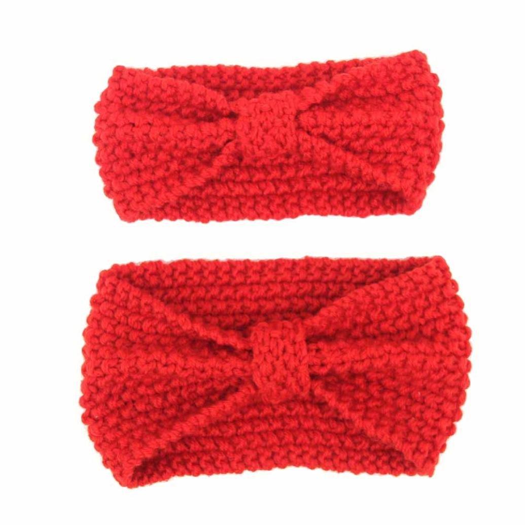 888e65d65c2454 Covermason Mutter und Baby Haarband Mutter und Baby Stricken Wolle  Geknotete Eltern-Kind Stirnband Hairband