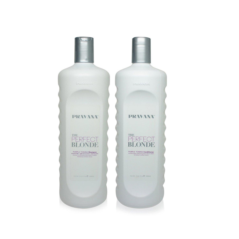 Pravana The Perfect Blonde Purple Toning Shampoo and Conditioner Set (33.8 fl oz each) B01EZ8477Y