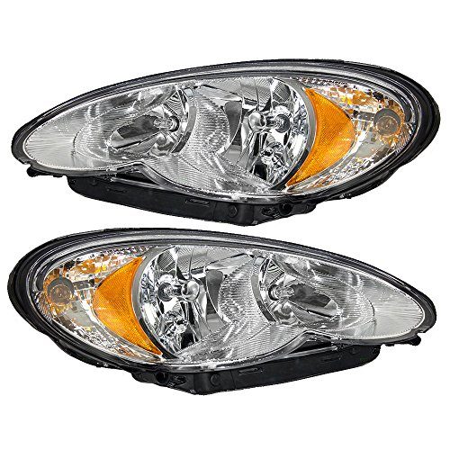 (Driver and Passenger Headlights Headlamps Replacement for Chrysler 5116043AB 5116042AB AutoAndArt)
