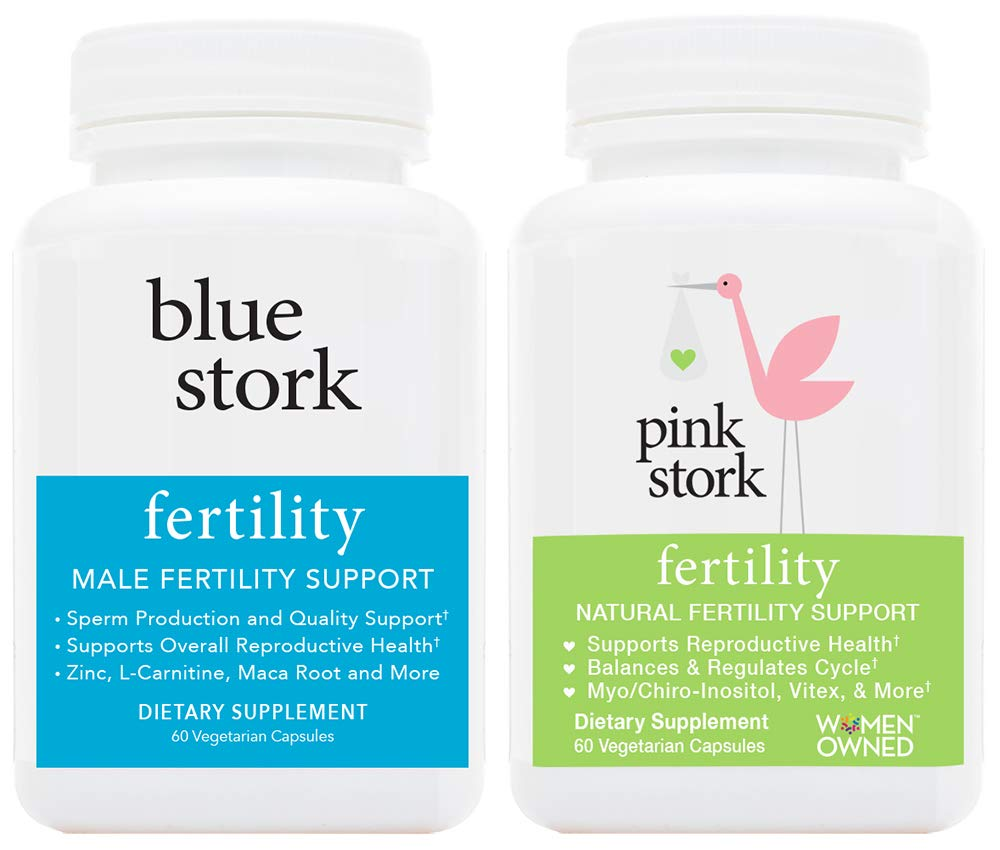 Pink Stork – Blue Stork Fertility Supplement Bundle for Her and Him