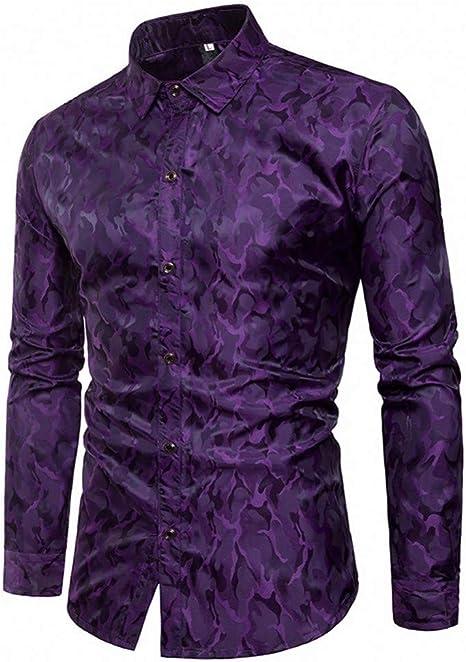 CHENS Camisa/Casual/Unisex/Camisa XL para Hombre Camisa Slim Fit a Rayas de Manga Larga Camisas con Botones Ocasionales Blusa Superior Formal: Amazon.es: Deportes y aire libre