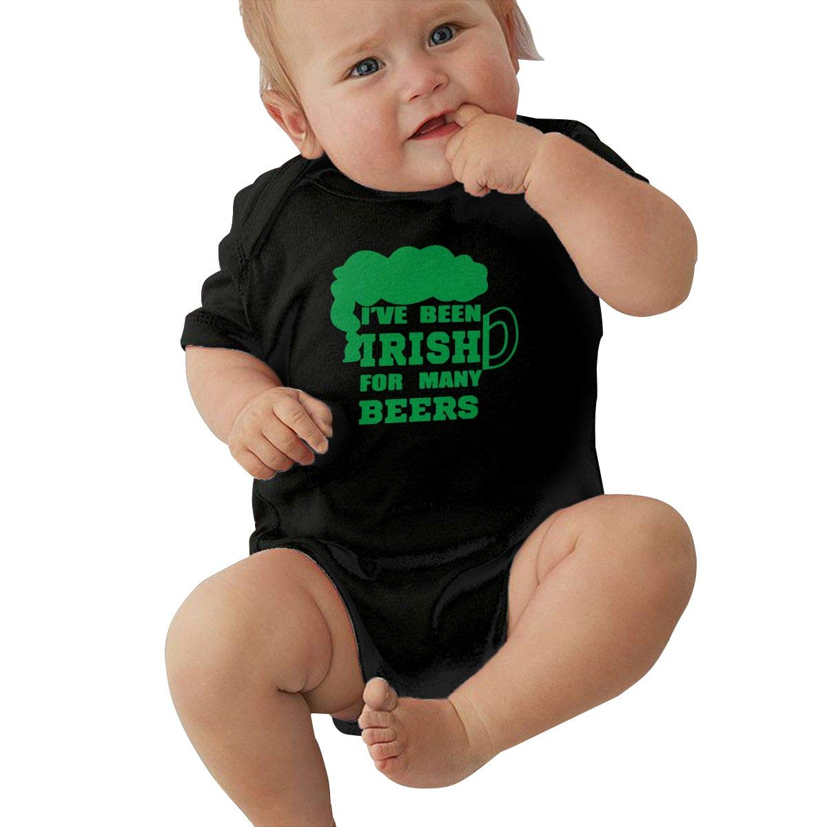 LBJQ9 I Have Been Irish for Many Beers Newborn Kids Baby Boys Sleep and Play Short Sleeve Bodysuit Jumpsuit Outfits