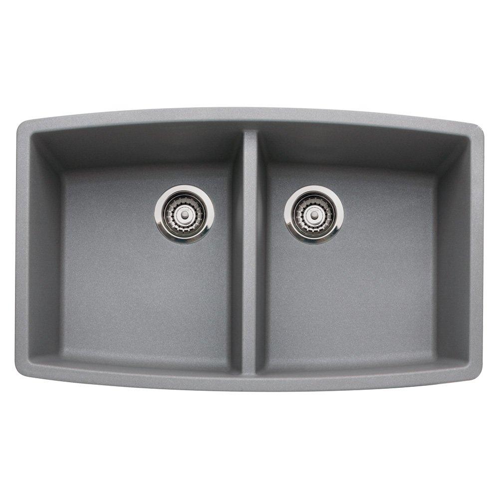 Blanco 440072 Performa Silgranit II Double Bowl Sink, gray - Blanco ...