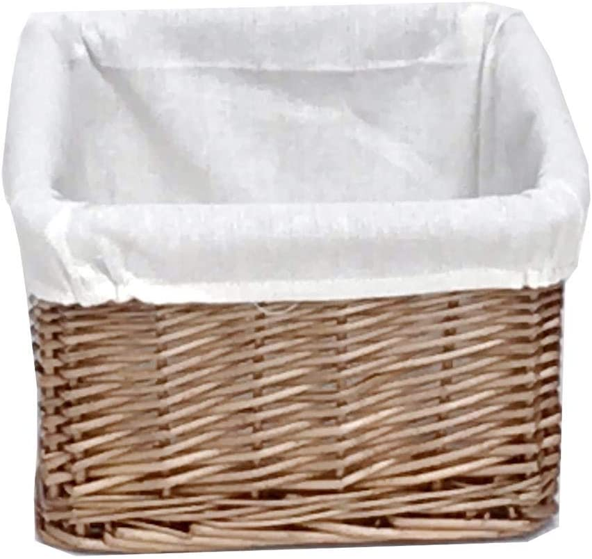 Big Huge Deep Children Kids Baby Nursery Storage Wicker Basket Toy Box Organiser White Large: 46.5x33x26cm