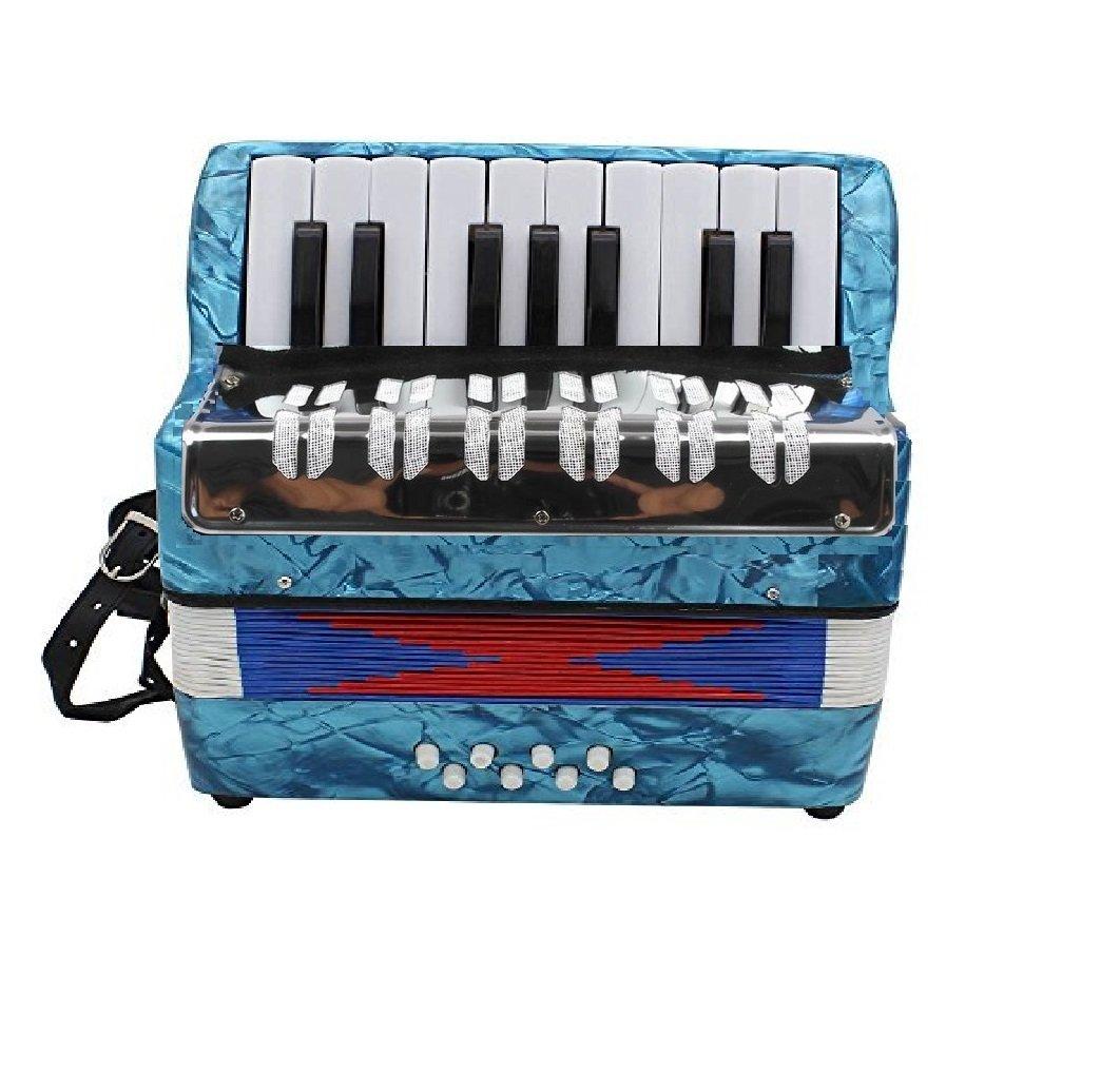 UC 104 Kids Piano Accordion 17 Keys 8 Bass Blue Perloid China