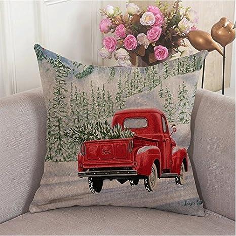 Amazon.com: Alicia Haines Navidad Rojo Camión sofá ...