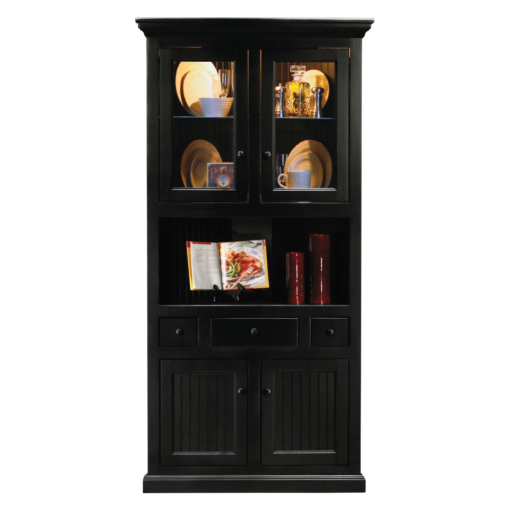 China Cabinet With Hutch Amazoncom Eagle Furniture Customizable Corner Dining Hutch