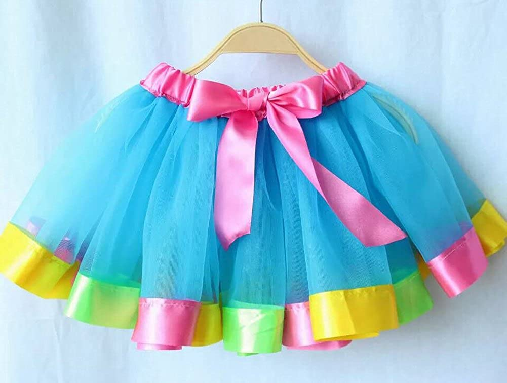 Imcute Family Matching Adult Mom Baby Girls Rainbow Layered Ballet Tulle Tutu Skirt
