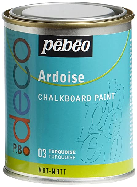 Pebeo - Pintura efecto pizarra (250 ml), color turquesa