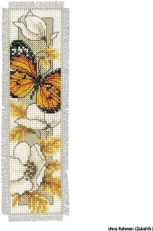 Fiori 6 Lettere.Kit Per Punto Croce Con Lettere Dell Alfabeto Motivo Farfalla E