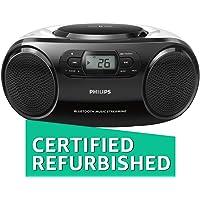 (Renewed) Philips AZ330T Boombox (Black)