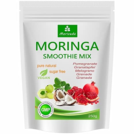Batido de polvo de moringa, potenciador de energía, batido de vitaminas, batido de proteínas, reemplazo de comidas – diferentes sabores - 100% natural ...