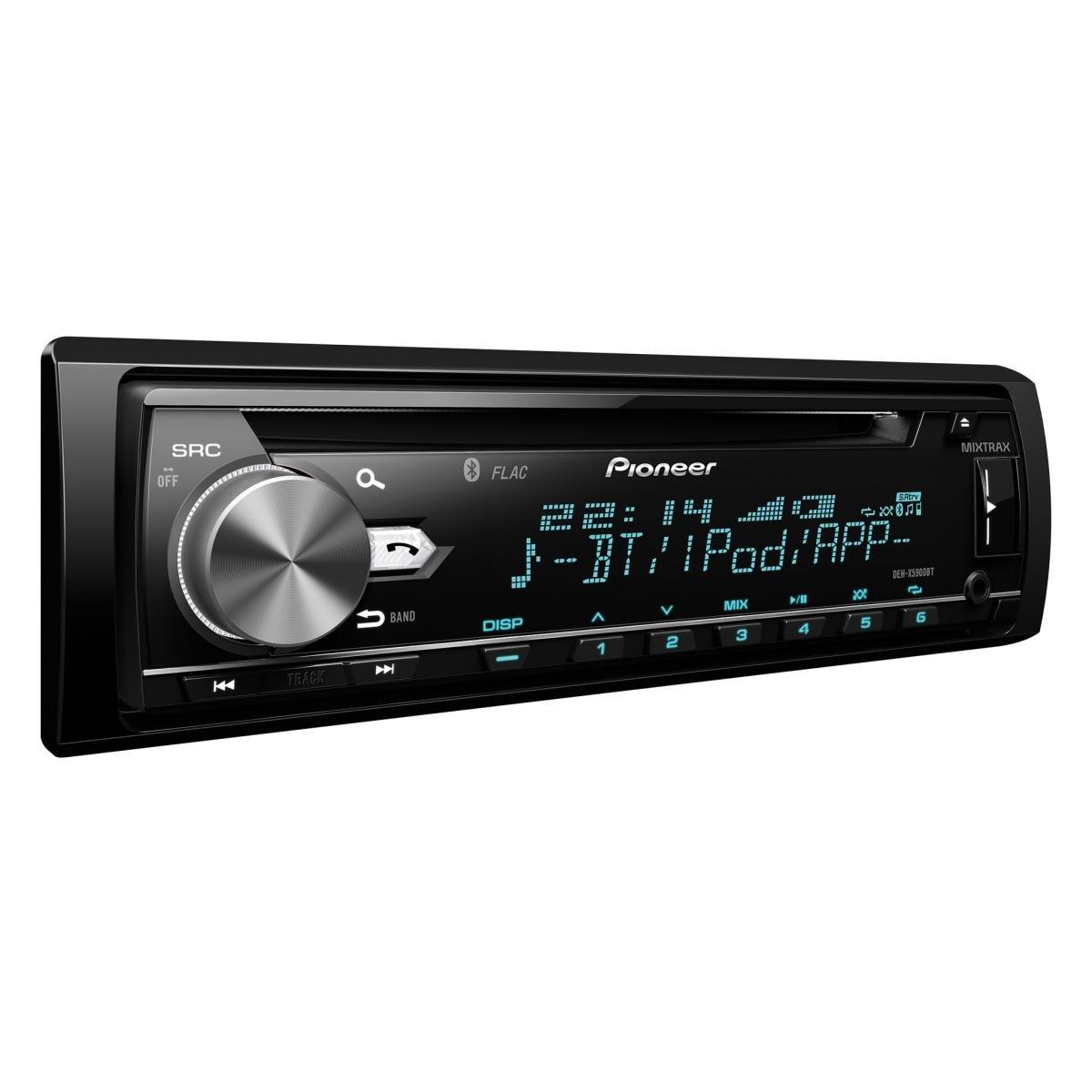 Pioneer DEH-X5900BT Autoradio (integrierter CD-Tuner, Bluetooth, Multi-Color Tastenbeleuchtung) Schwarz