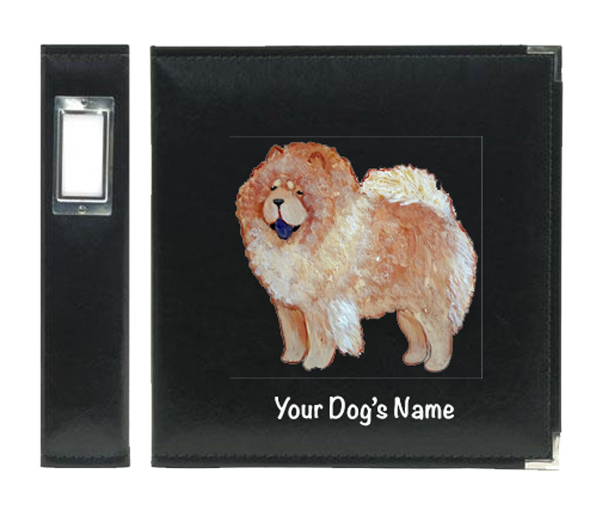 Chow Chow Cinnamon Dog Hand Painted Photo Album Scrapbook for Show Photos, Awards, Action Shots, Agility