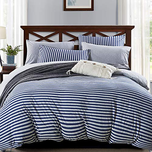 Pure Era Jersey Knit Cotton Duvet Cover Sets Striped 3