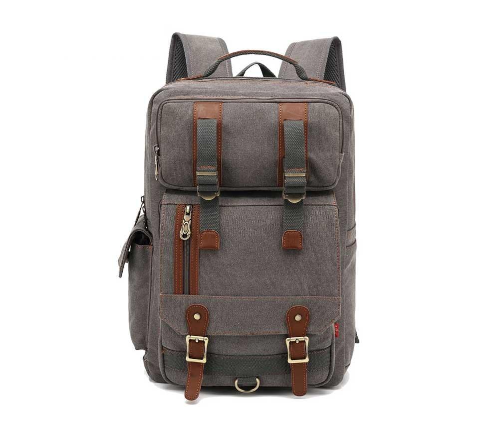 Amyannie 大容量キャンバスバックパック 多機能キャンバスショルダーバッグ アウトドア旅行バッグ   B07FQLVQ4N