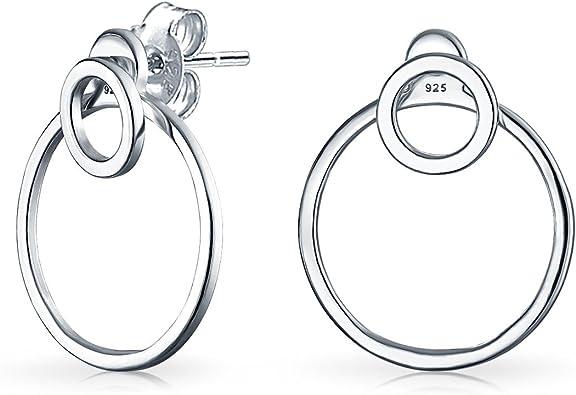Circle earrings sterling silver circle stud earrings geometric studs minimalist jewelry open circle earrings minimalist earrings