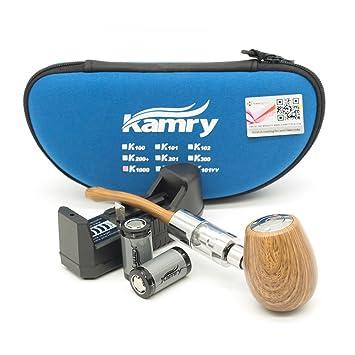 Kamry K1000 Pipa Clásico Estilo Tubo de Cigarrillo Electrónico Starter Kit Completo Con Estuche, 2PCS
