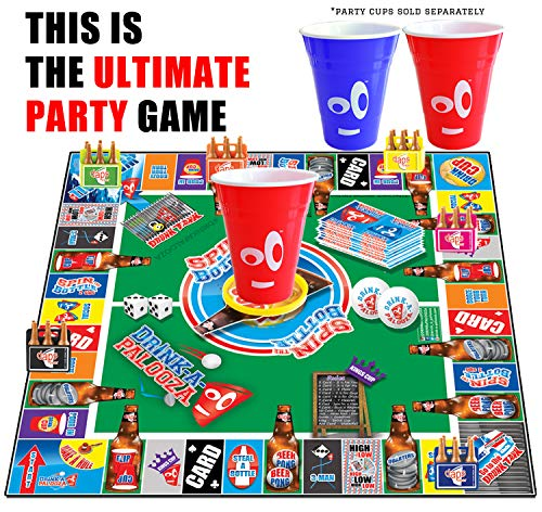 Drink A Palooza Board Game Fun Drinking Games For Adults Game Night Party Games Adult Games Combo Of Beer Pong Flip Cup Kings Cup Card Games