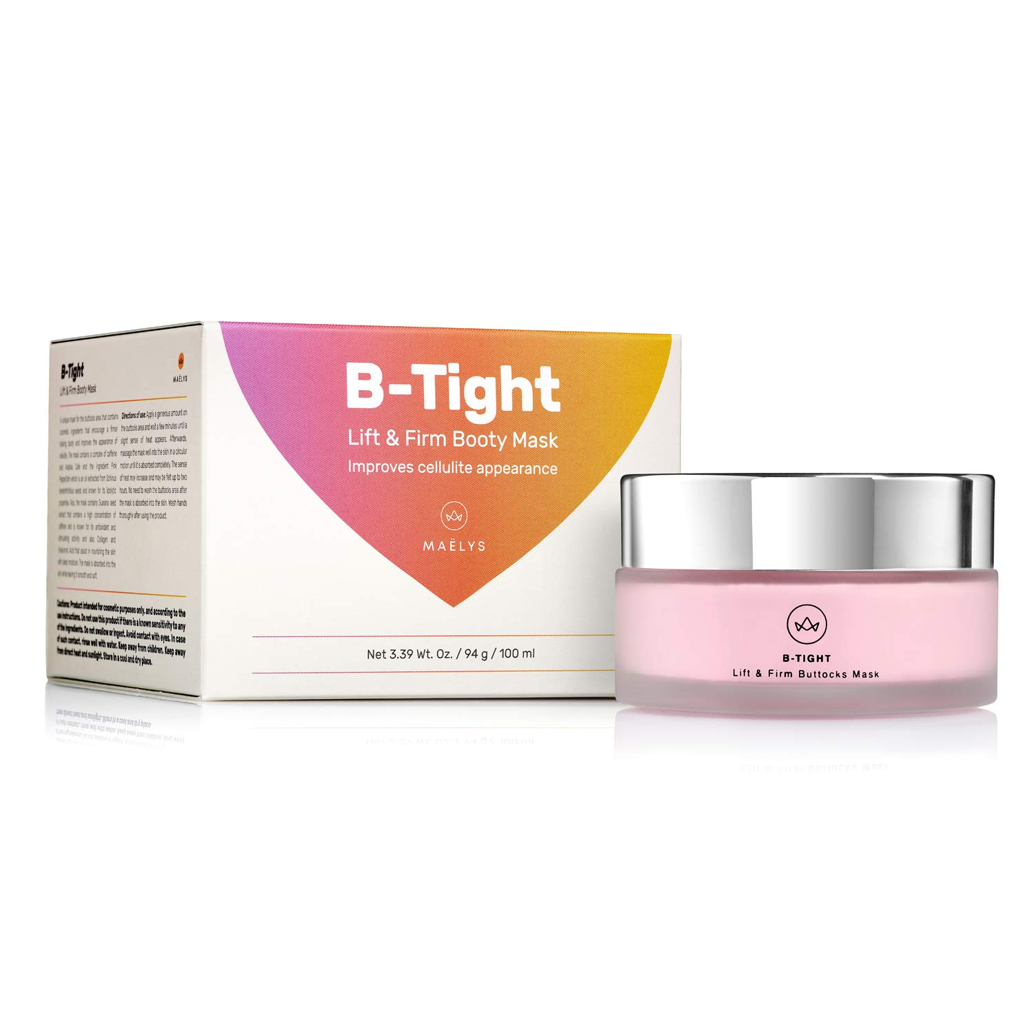 B-Tight Cellulite Removal Cream - Anti Cellulite Skin Firming Treatment for Butt & Thighs, Burns Fat, Lifts & Firms 3.8 oz by MAELYS Cosmetics (Image #8)