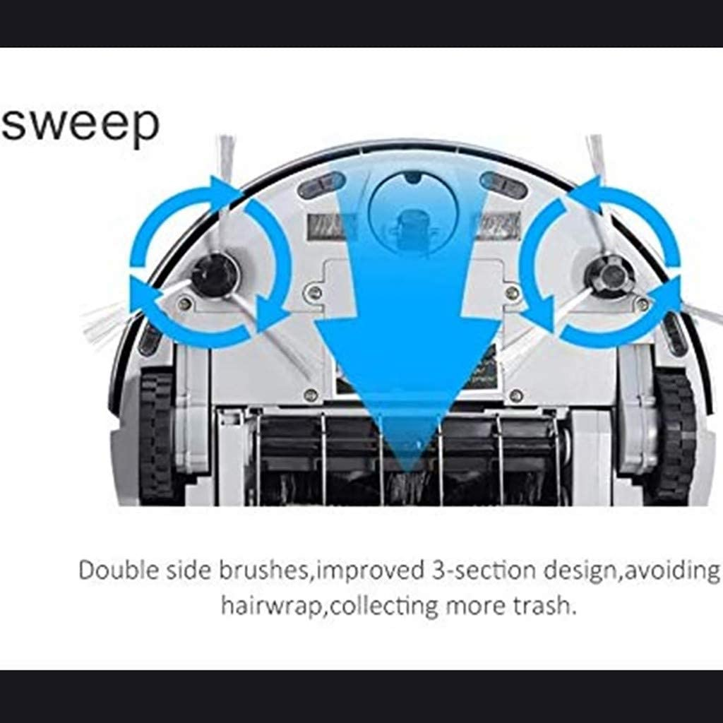SHHYD Robot Aspirateur, Aspiration De Puissance, Auto-Recharge Robotique Contrôle Intelligent APP, Nettoie pour Poils d\'animaux, Sols Durs Et Tapis,C B