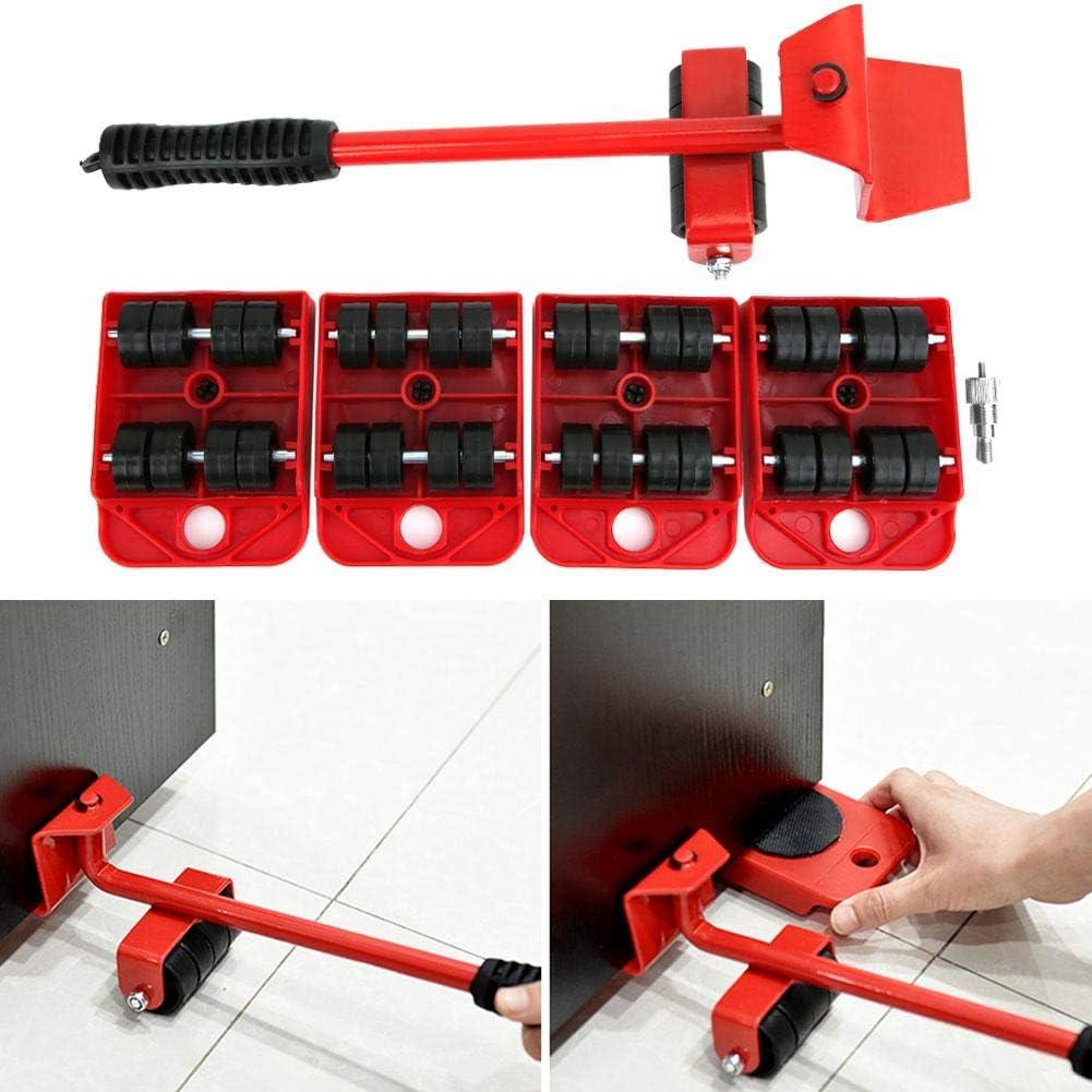 Mobiliario Pesado Herramienta de Transporte Mover Palanca de Transporte Mover Fácil Muebles para Manipular Mercancías Pesadas o Muebles, Tablero Móvil 105 x 80 x 22 mm
