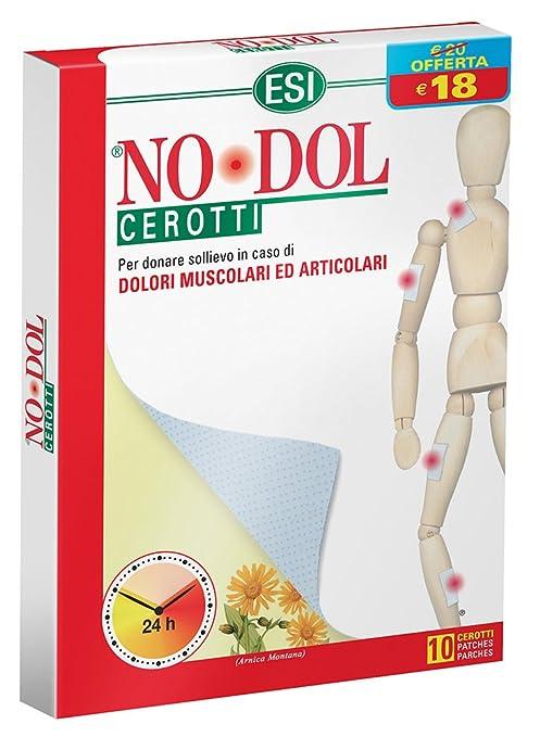 Los Angeles In liquidazione piuttosto fico Esi No Dol Cerotti - Cerotti dolori muscolari articolari, confezione da 10  unità