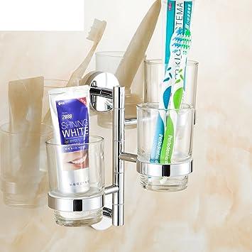Toda la taza del cepillo de dientes de cobre/enjuague bucal de cristal/ actividades tazas/Multi-función de soporte de vaso cepillo de dientes plegable-C: ...