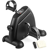 LONENESSL Portable Mini Exercise Bike for Leg and Arm, Under Desk Exercise Bikes with Adjustable Resistance Knob and LED…