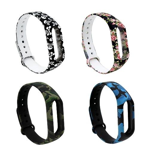 8 opinioni per Xiaomi Mi Band 2 Polso Cinturino Pinhen Silicone Replacement Bracelet Wrist