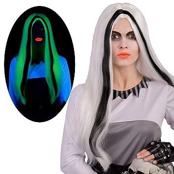 Carnival Toys 2426 peluca Morticia G.I.D, blanco, talla única