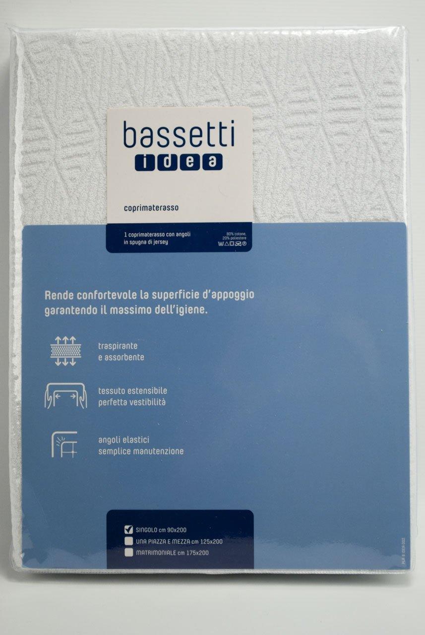 Bassetti Idea Coprimaterasso, Cotone, Binco, 175x200x0.4 cm SKU