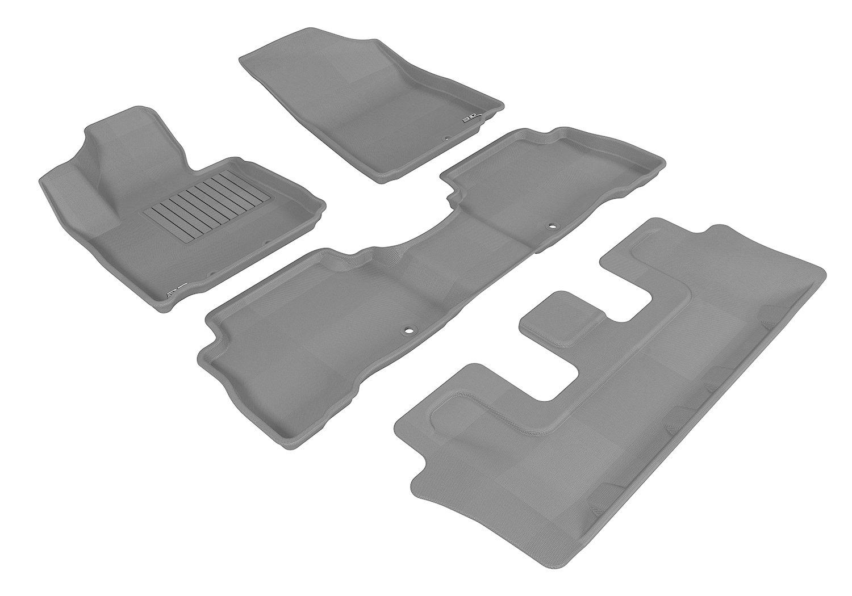 Kagu Rubber Tan L1KA01631502 3D MAXpider Third Row Custom Fit All-Weather Floor Mat for Select Kia Sorento Models