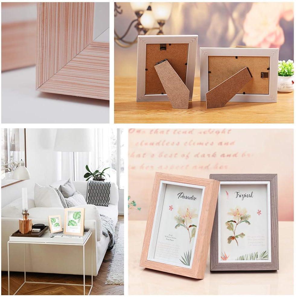 12 pezzi cornice da tavolo in legno massello con plexiglass infrangibile Cornice portafoto semplice in stile nordico LZYMSZ rosa A4 Legno