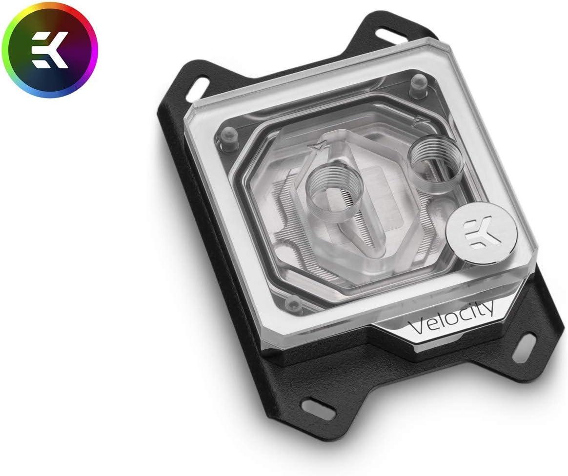 EKWB EK-Velocity CPU Waterblock, Digital RGB, AMD CPU, Nickel/Plexi