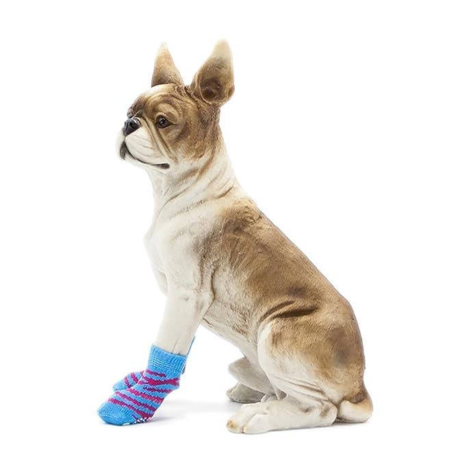 Calcetines para Perros, Calcetines A Rayas Azules, Calcetines Antideslizantes para Mascotas Calienta Calcetines De Otoño E Invierno Calcetines Calcetines ...