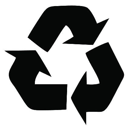 amazon com dixies decals recycle symbol trashcan garbage can trash