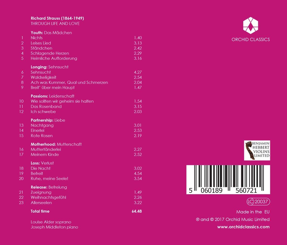 Alder Middletone, Louise Alder, Richard Strauss, __ - Through Life & Love - Amazon.com Music