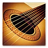 Musical Instrument Acoustic Guitar Wooden Coaster