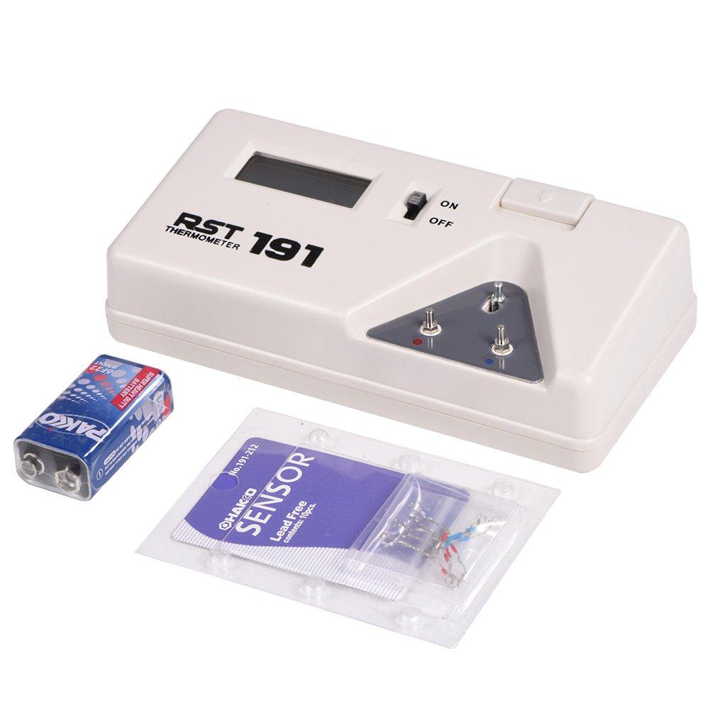 191 Soldering Temperature Tester Electrical Soldering Iron Tip Thermometer Sensor Line Digital Display Tool