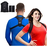 Back Posture Corrector Clavicle Support Brace for Women & Men by Potou, Figure 8 Shaped Designed for Your Upper Back, Helps to Improve Posture, Prevent Slouching and Upper Back Pain Relief
