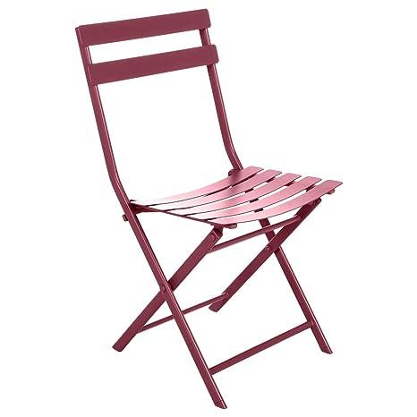 Hespéride Greensboro - Silla Plegable de Metal, Color Rojo ...