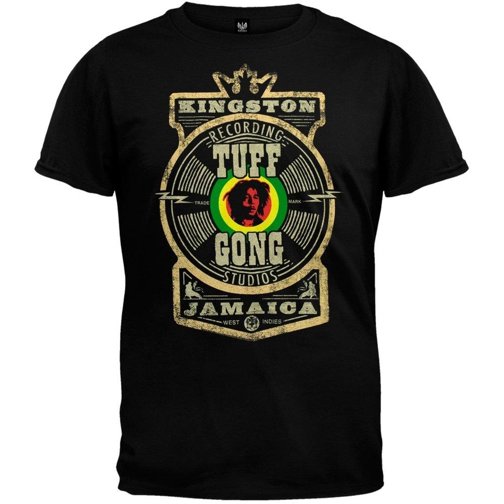 Bob Marley - Tuff Gong Label - Camiseta para hombre: Amazon.es: Ropa y accesorios
