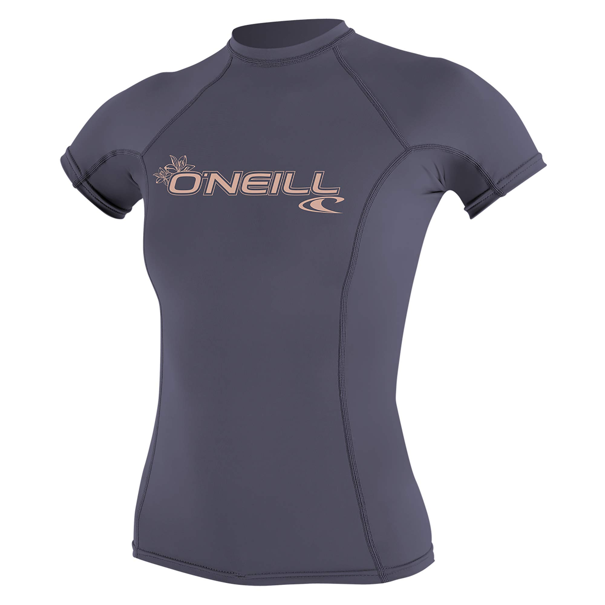 O'Neill Women's Basic 50+ Skins Short Sleeve Rash Guard, Dusk, Large by O'Neill Wetsuits
