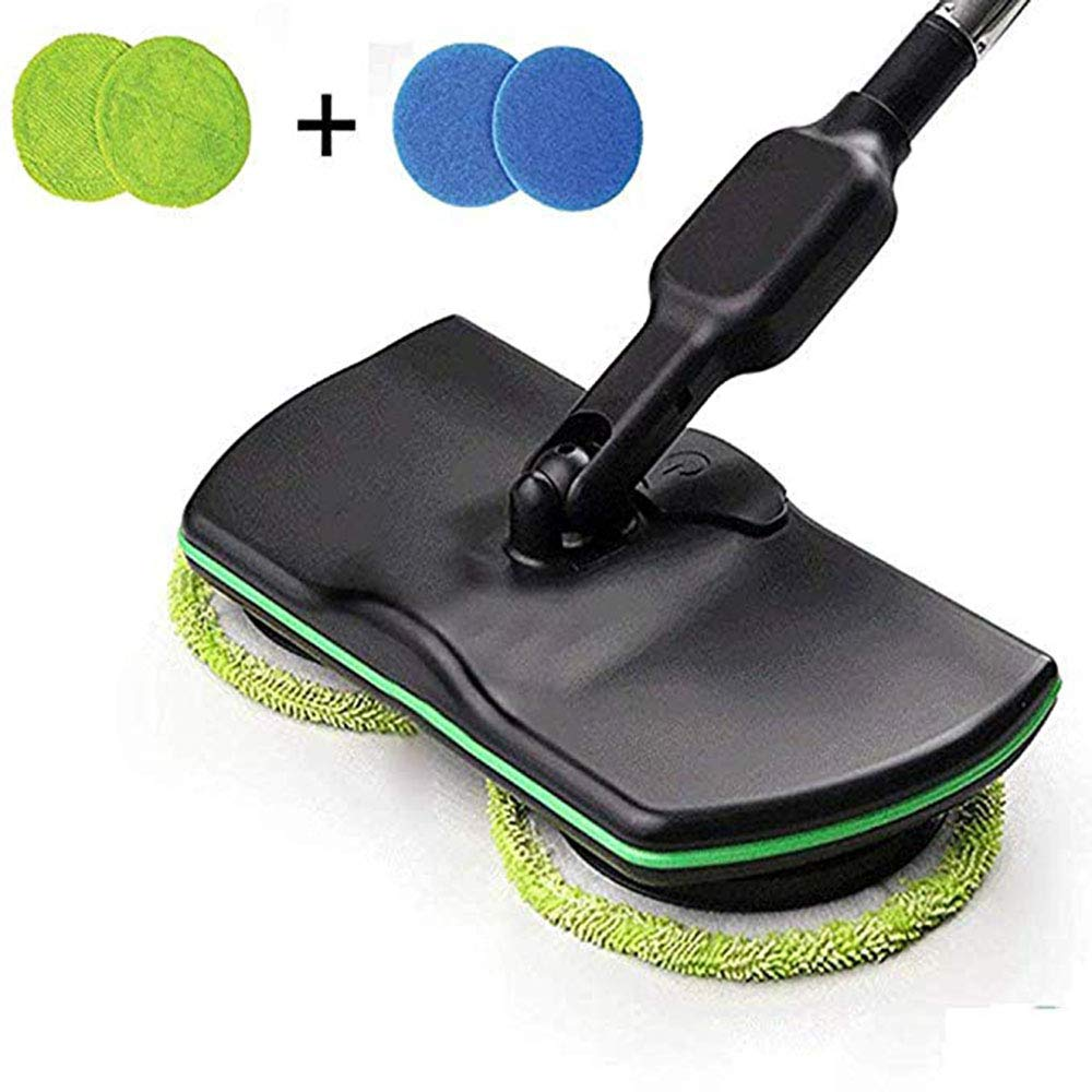 SSRSHDZW Hand-Push Sweeper Home Rechargeable Wireless Rotary Electric Mop Cleaning Tool Scrubber Applicable to Living Room Bedroom Restaurant by SSRSHDZW