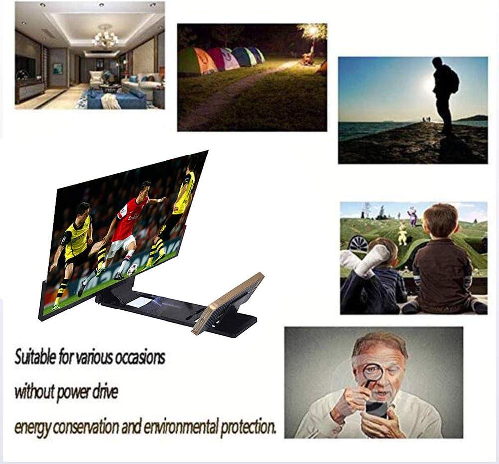 Yole Handy 14 Zoll Bildschirm Hd Lupe Glas 3d Video Lupe Glas Eye Protektor Smart Phone Halterung Strahlenschutz Black Amazon De Sport Freizeit